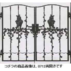 リクシル 新日軽 ディズニー門扉 角門柱式 プーさんB型 0712 両開き ブラック