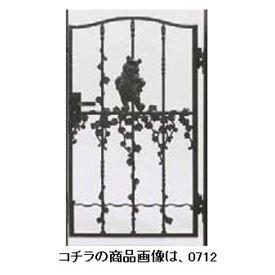 リクシル 新日軽 ディズニー門扉 角門柱式 プーさんB型 0612 片開き ブラック