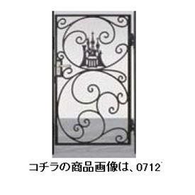 リクシル 新日軽 ディズニー門扉 角門柱式 プリンセスA型(シンデレラ) 0810 片開き ブラック