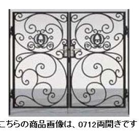 リクシル 新日軽 ディズニー門扉 角門柱式 プリンセスA型(かぼちゃの馬車) 0710 両開き ブラック