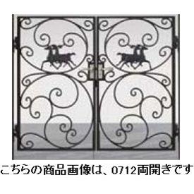 リクシル 新日軽 ディズニー門扉 角門柱式 プリンセスA型(馬) 0610 両開き ブラック