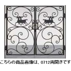 リクシル 新日軽 ディズニー門扉 角門柱式 プリンセスA型(馬) 0710 両開き ブラック