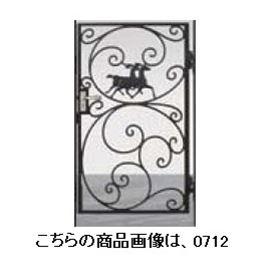 リクシル 新日軽 ディズニー門扉 角門柱式 プリンセスA型(馬) 0710 片開き ブラック