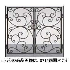 リクシル 新日軽 ディズニー門扉 角門柱式 プリンセスA型(唐草) 0612 両開き ブラック