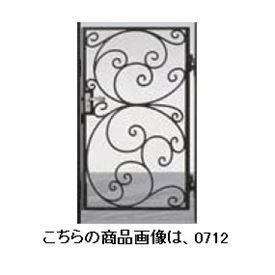 リクシル 新日軽 ディズニー門扉 角門柱式 プリンセスA型(唐草) 0710 片開き ブラック