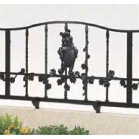 リクシル 新日軽 ディズニーフェンス プーさんB型 本体  『アルミフェンス 柵』 ブラック