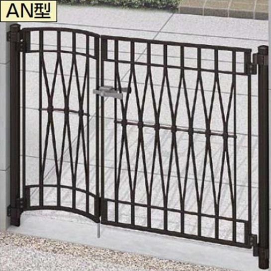 リクシル TOEX アプローチ ルナ AN型 柱使用 05R・09-10 親子開き 施錠なし取手『アルミ門扉』