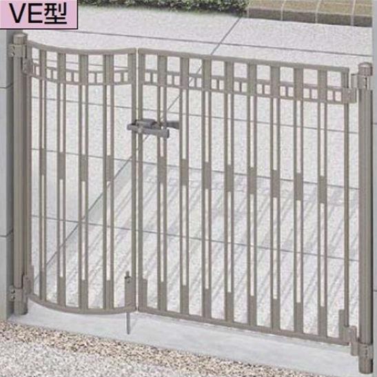 リクシル TOEX アプローチ ルナ VE型 柱使用 09-10 片開き 施錠なし取手『アルミ門扉』
