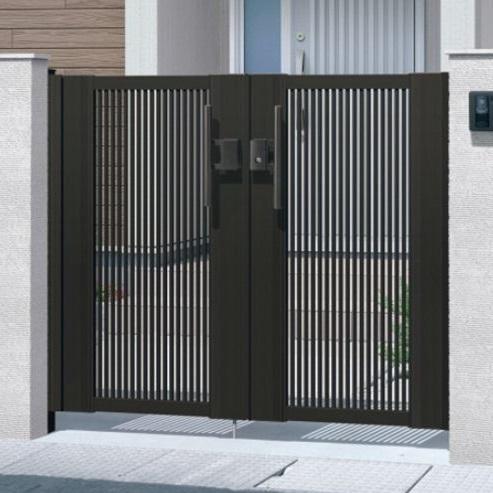 都内で 三協アルミ エクモアX2型門扉 門柱タイプ 0816 両開き MEX-2, Ewin 5766e447