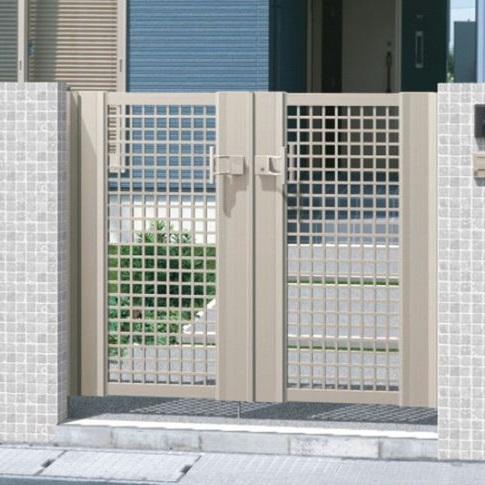 三協アルミ エクモアX3型門扉 門柱タイプ 0714 両開き MEX-3