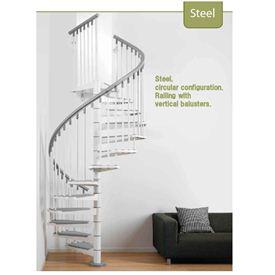 アルケ 室内用階段 スチール 標準キット 16段 直径1400MM