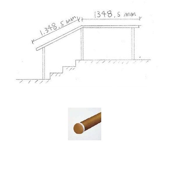 『セット販売』 YKKAP 歩行補助用手すり パルトナーUDフェンス1型 A型笠木 1コーナーセット  手すり:樹脂カラー