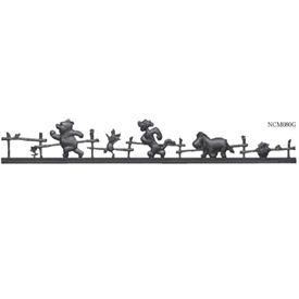 リクシル 新日軽 ディズニーミニフェンス プーさんD型 本体  『アルミフェンス 柵』 ブラック