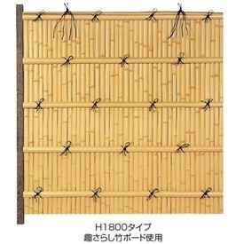 タカショー エバーバンブーセット エバー15型 60角柱(両面) こだわり竹セット 追加型(片柱) 『竹垣フェンス 柵』