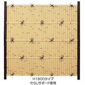 タカショー ユニバンブー 1型セット 60角柱(両面) 基本型(両柱) 『竹垣フェンス 柵』 真竹