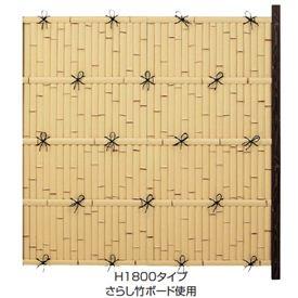 タカショー ユニバンブー 1型セット 60角柱(両面) 追加型(片柱) 『竹垣フェンス 柵』 さらし竹