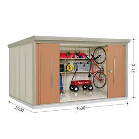 タクボ物置 ND/ストックマン ND-Z3629 一般型 結露減少屋根  『屋外用中型・大型物置』 トロピカルオレンジ