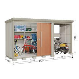 タクボ物置 TP/ストックマンプラスアルファ TP-4015 一般型 標準屋根 『追加金額で工事も可能』 『駐輪スペース付 屋外用 物置 自転車収納 におすすめ』 トロピカルオレンジ
