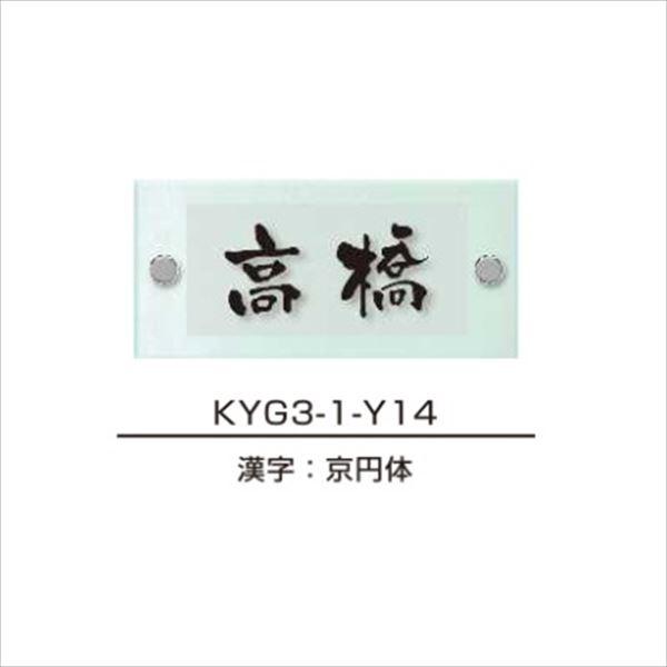 エクスタイル 機能門柱用表札 ガラス表札 スリムタイプ YEG3B-101 『機能門柱 YKK用』 『表札 サイン 戸建』