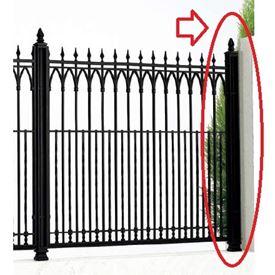 四国化成 オレガ/ブルーノ/エドウィンフェンス角飾り支柱仕様 01:角飾り端柱 (コーナー柱兼用) 01KEP-08BK 『アルミフェンス 柵』 ブラックつや消し