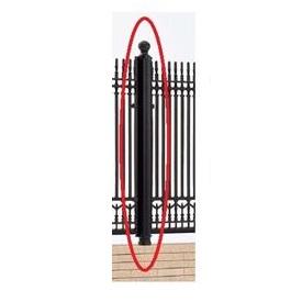 四国化成 ビビオ/ロマナクロスフェンス 丸飾り支柱仕様 04: 丸飾り鈍角コーナー柱 04KCP-06BK 『アルミフェンス 柵』 ブラックつや消し