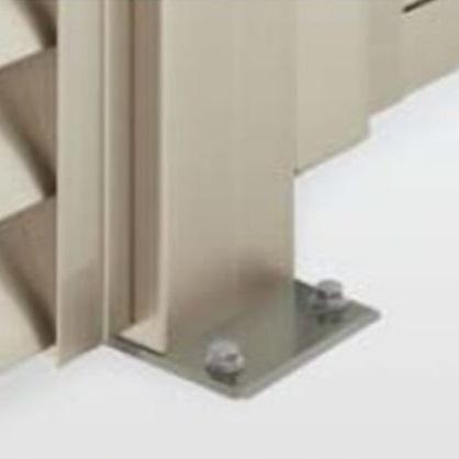 四国化成 ハイ パーテーション A2/AS2/A4/A7型用 ベースプレート支柱 06:コーナー柱(角度90~180°) H1500用 06CPB-15SN 『樹脂フェンス 柵』 ステンカラーN