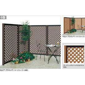 四国化成 ハイ パーテーション6型 本体 1512サイズ HPT6-1512 『ラチス 樹脂フェンス 柵』