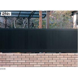 三協アルミ モンブレム2N型 フェンス本体 フリー支柱タイプ 2008 『アルミフェンス 柵 高さ H800mm用』 ブラック