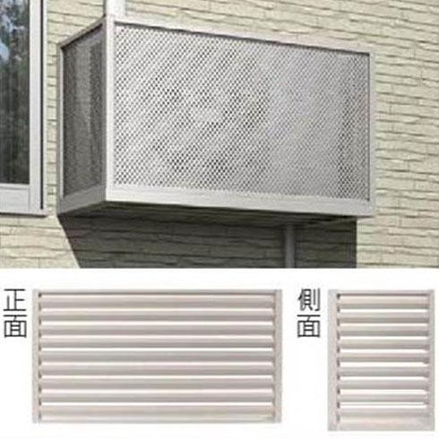 YKKAP エアコン室外機置き 1台用 正面:ルーバー格子 側面:ルーバー格子 関東間 JFB-0906-07