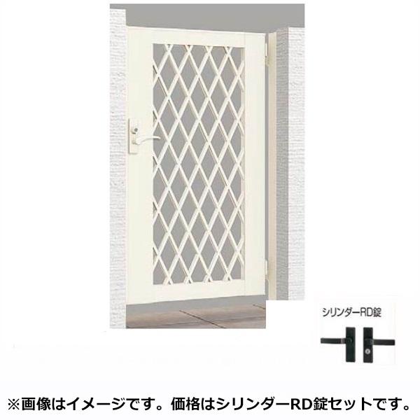 リクシル TOEX ライシス門扉8型 柱仕様 09-12 片開き