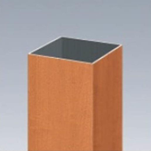 三協アルミ α-Pro アルファプロ ホロー材 (2.4mタイプ) 70角 KZLH24M-70×70 『外構DIY部品』 木調色