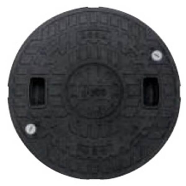 城東テクノ 耐圧マンホールカバー (T-2) 600型/ロック付 JT2-600C-1 1枚入 『外構DIY部品』 ブラック(JC)