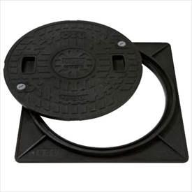 城東テクノ 枠付マンホールカバー 角枠セットAタイプ 250型 JM-250A 5セット入 『外構DIY部品』 ブラック(JC)