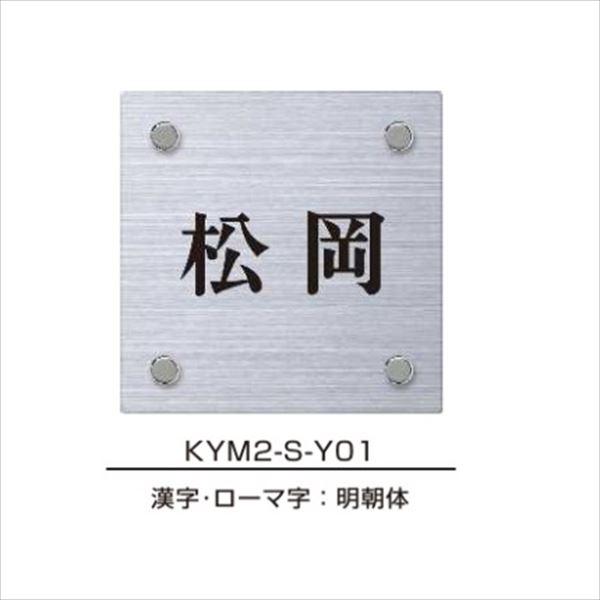 エクスタイル 機能門柱用表札 ステンレスヘアライン表札 YEM2-S 『機能門柱 YKK用』 『表札 サイン 戸建』
