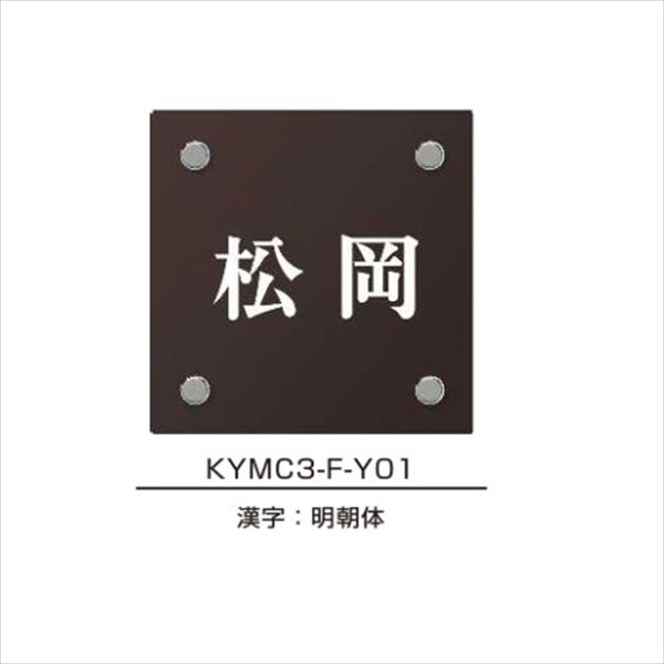 エクスタイル 機能門柱用表札 カラーアクリル表札 YEA2-B 『機能門柱 YKK用』 『表札 サイン 戸建』