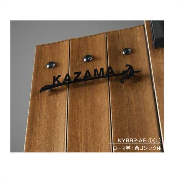 エクスタイル ルシアス ポストユニット専用ステンレス切文字表札 YEBR2 Lサイズ(AM01型用) 『機能門柱 YKK用』 『表札 サイン 戸建』