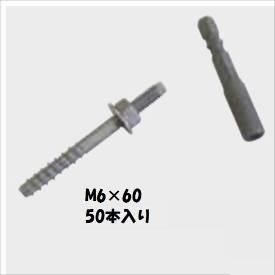 グローベン 構造部材 ステンレスアンカーボルト M6×60 50本入 A50KD660 『外構DIY部品』