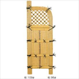 タカショー 合成竹製品 GO-12 合成竹巻玉袖垣 2尺/ W600×H1700 #10123800 『竹垣フェンス 柵』