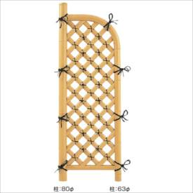 タカショー 合成竹製品 GO-36 合成割竹格子袖垣 2.3尺/ W700×H1700 #10416100 『竹垣フェンス 柵』