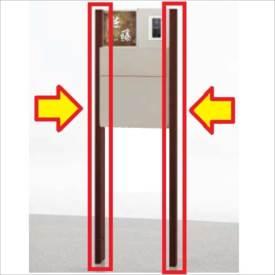 リクシル ウィルモダン部材 両柱セット センターブロック上用 『機能門柱 機能ポール』