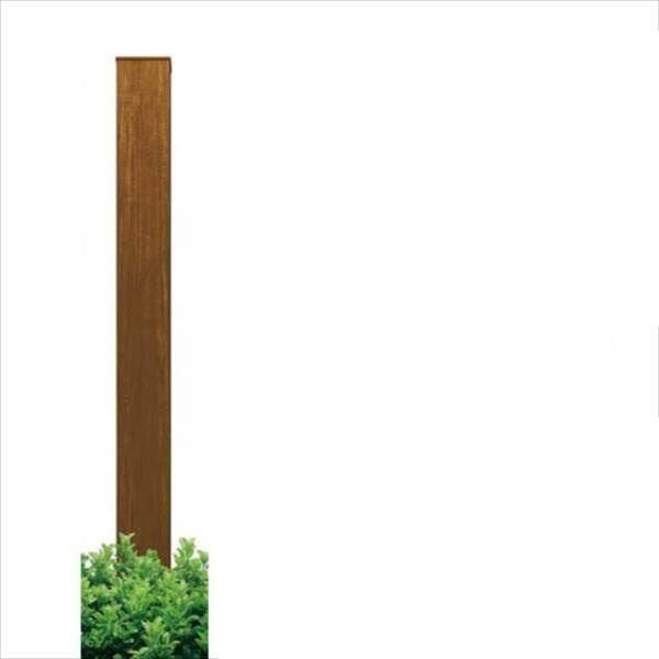 YKKAP ルシアスアクセントポール1型 T200 木目カラー 『機能門柱 機能ポール』