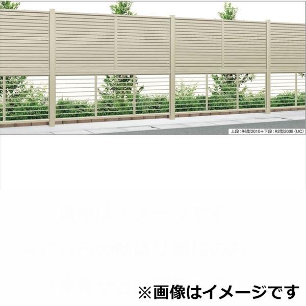 三協アルミ 形材フェンス セレクティ多段施工 多段間仕切柱タイプ 2段端柱 H1122 JM2P1-12H 『アルミフェンス 柵』
