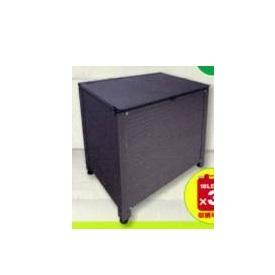 アルミス アルミ製ストッカーBOX AS-6440GY コンパクトサイズ   『小型 物置 屋外 DIY向け 濡れ縁 収納』