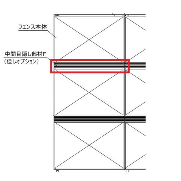 四国化成 防風・防音フェンス オプション 04:中間目隠し部材F サイズ共通 04DCB-SC 『アルミフェンス 柵』 ステンカラー