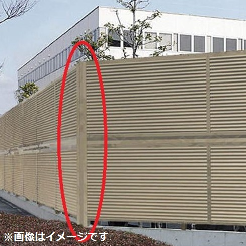 四国化成 防風・防音フェンス オプション 02:コーナージョイント 2段用 12(上)-12(下)用 02DCJ-24SC 『アルミフェンス 柵』 ステンカラー