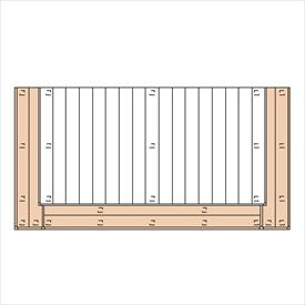 三協アルミ ひとと木2 オプション 2段デッキ(間口+出幅 「両側」) 束連結仕様 1.0間×7尺 『デッキ本体は別売です』 『ウッドデッキ 人工木』