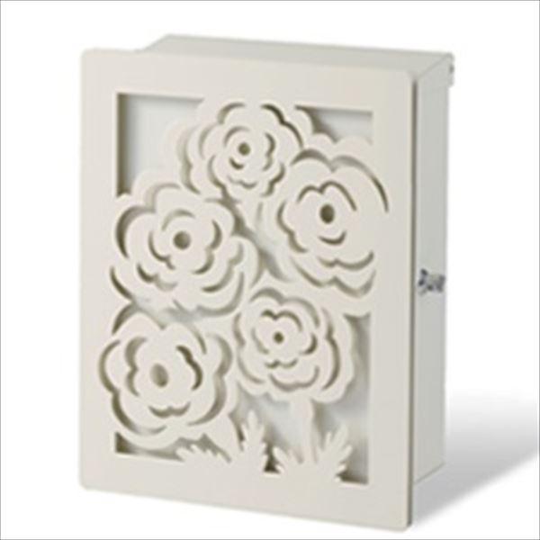 トーシン アン デュオ パネル:マリー 『アンティークで美しい、立体的なデザインパネル付』 『郵便ポスト』 ホワイト