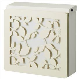 トーシン マルカート デュオ パネル:ローリエ 『アンティークで美しい、立体的なデザインパネル付』 『郵便ポスト』 ホワイト