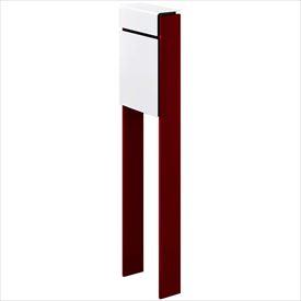 YKKAP フィッテ (上入れ前だし) DPB-1 『ポスト+柱セット』 ポスト:ハイホワイト/柱:シックレッド