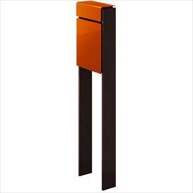 YKKAP フィッテ (上入れ前だし) DPB-1 『ポスト+柱セット』 ポスト:サンオレンジ/柱:ダークブラウン